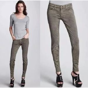 Current Elliott Women Skinny Hounds Tooth Jeans 26